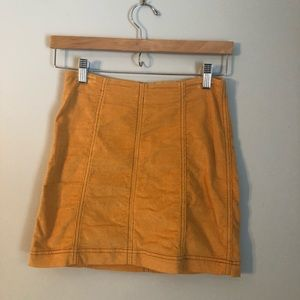 FP Mini Skirt (ribbed, mustard color)